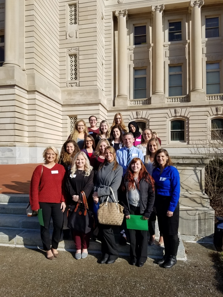 Community Nutrition Students at the State Capital